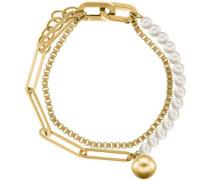 Armband gold/weiß