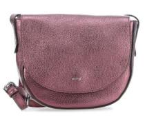 Calf Shimmer Schultertasche violett