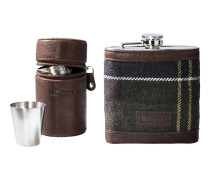 Geschenkset Tartan Hip Flask & Cups