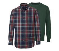 2er-Set Pullover und Karohemd