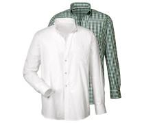 Trachtenhemd, 2er-Pack