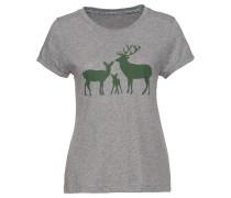 T-Shirt mit Hirschmotiv