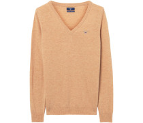 V-Pullover aus Lambswool