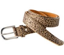 Gürtel mit Leoparden-Muster