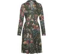 Viskose-Kleid mit Blumenprint