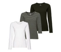 Langarm-Shirt, 3er-Pack