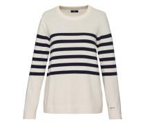Rundhals-Pullover mit Streifen