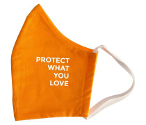 Orange Protect What You Love Mundschutz & Maske