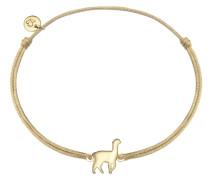 Armband Textil Sterling Silber gelbvergoldet