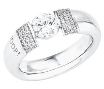 Ring Ring mit Zirkonia von , Silber 925, Größe 52 Weiß