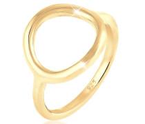 Ring Kreis Rund Geo Statement 925 Sterling Silber