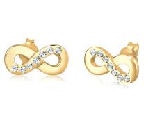 Ohrringe Infinity Symbol Liebe Swarovski® Kristalle Silber
