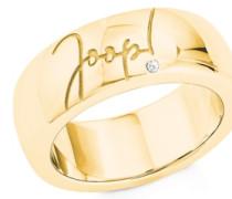Ring für, Silber 925 gelbvergoldet mit Zirkonia Weiß