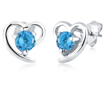Ohrringe Herz Liebe Zirkonia 925 Sterling Silber