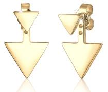 Ohrringe Earjacket Dreieck Geo 925 Sterling Silber