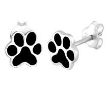 Ohrringe Pfoten Tier Emaille Hund Katze Filigran 925 Silber