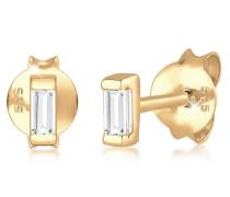 Ohrringe Minimal Geo Topas Edelstein Zart 585 Gelbgold