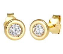Ohrringe Swarovski® Created Diamond (0.06 ct.) 585 Gelbgold