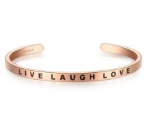 Bangle Edelstahl rosevergoldet LIVE LAUGH LOVE