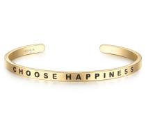 Bangle Edelstahl vergoldet CHOOSE HAPPINESS
