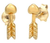 Ohrringe Stecker Herz Pfeil Symbol Romantisch 925 Silber