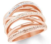 Ring für Edelstahl IP rose weiß, apricot, beige