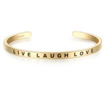 Bangle Edelstahl vergoldet LIVE LAUGH LOVE