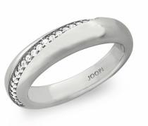 Ring Ring mit Zirkonia rhodiniert, Silber 925 Weiß
