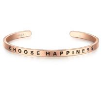 Bangle Edelstahl rosevergoldet CHOOSE HAPPINESS
