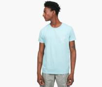 T-Shirt mit Stickerei pale turquoise