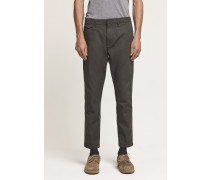 Atelier Cropped Japanese Chino steel grey