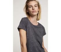 T-Shirt aus Melange Jersey rain