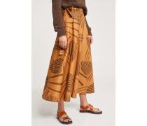 Palm Leaves Skirt caramel