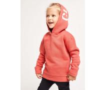 Kids Kapuzensweatshirt mit  Logo coral
