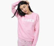 Sweatshirt mit  Print flamingo pink