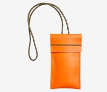 Mini Bag/Brillenetui aus Leder hot orange