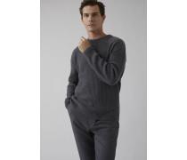Pullover aus reiner Wolle dark led melange
