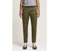 Atelier Cropped Japanese Chino deep woods