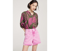 "Worker ""85 Coloured Rigid Denim Shorts magenta"