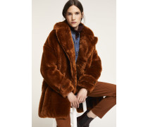 Fake Fur Mantel pecan