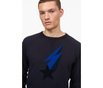 Sweatshirt mit Shooting Star navy