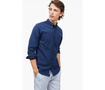 Button Down Hemd indigo blue