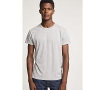 Basic T-Shirt light grey melange