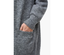 Cardigan aus Alpaka Mix light grey melange