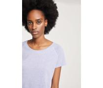 T-Shirt aus Melange Jersey violet sky