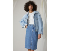 Denim Pencil Skirt mid blue