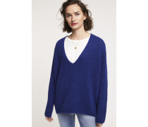 V Pullover aus Royal Baby Alpaka Mix japanese blue