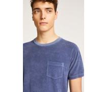 Frottee T-Shirt indigo blue