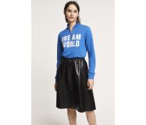Langarmshirt mit Zipper electric blue