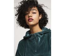 Half Zip Hoodie aus Nicki evergreen